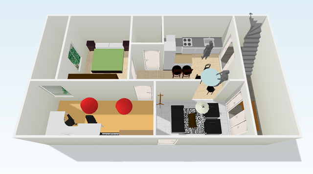 Tu plano en 3d la caja multiuso for Hacer casas en 3d online