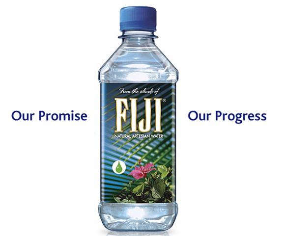 la etiqueta dice fiji