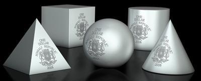 somalia esfera cubo moneda