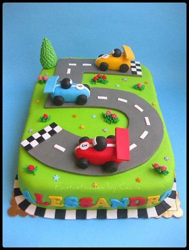 torta autos de carrera
