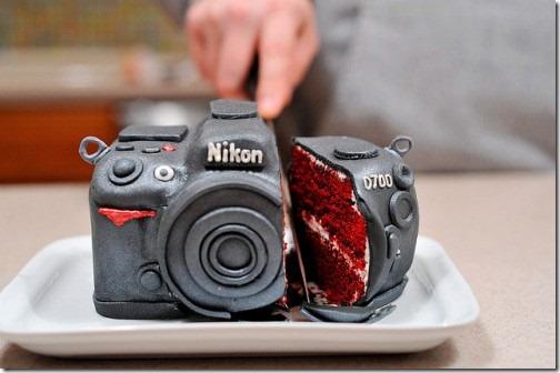torta nikon camara creativa